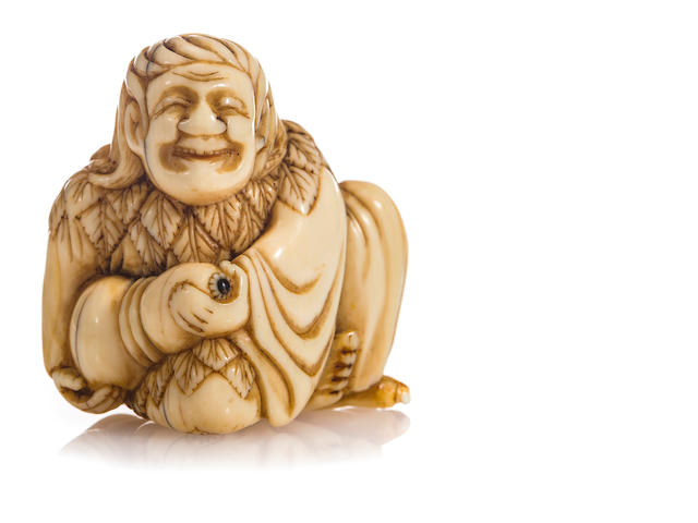 Ivory netsuke of Chokwaro, by Jikoku, 18th century