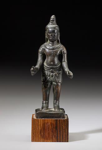 A copper alloy figure of Shiva Cambodia, Banteay Kdei style, mid 12th/early 13th century