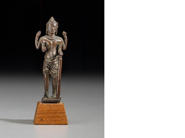 Copper alloy Vishnu Cambodia, 10th century