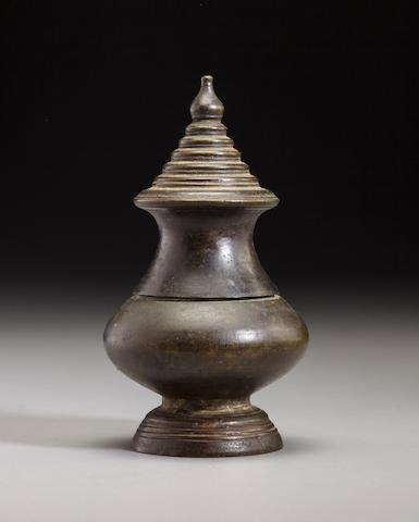 Copper alloy lime pot Cambodia, 13th/16th century