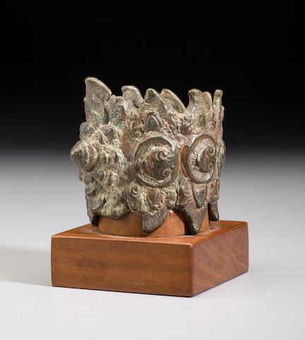 A copper alloy palanquin ornament Cambodia, 12th/13th century