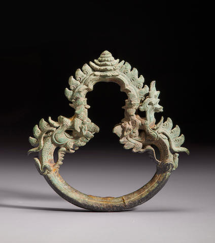 Copper alloy palanquin ring Cambodia 12th/13th century