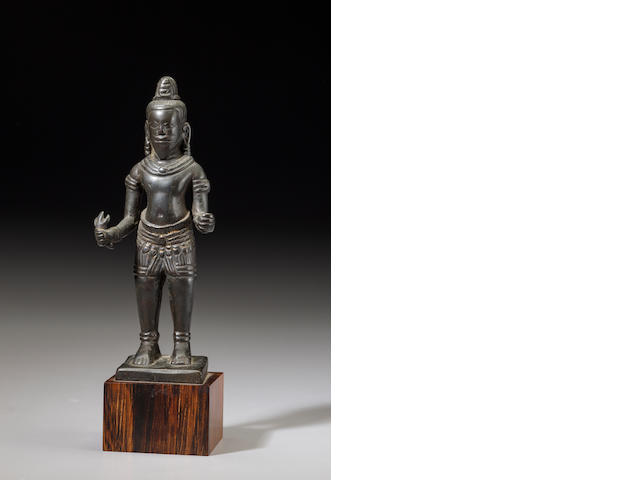 Copper alloy Shiva Cambodia, 12th/13th century