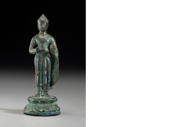 Copper alloy Buddha Srivijaya (Thailand, Malaya, Indonesia?), Circa 9th century