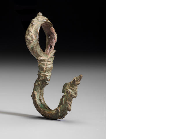 Copper alloy palanquin hook Cambodia, 12th/13th century