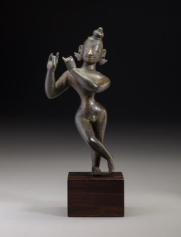 A copper alloy figure of Krishna as Venugopala Bengal, 19th century