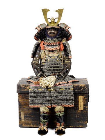A sakura gawa do maru yoroi armor Edo period (19th century)