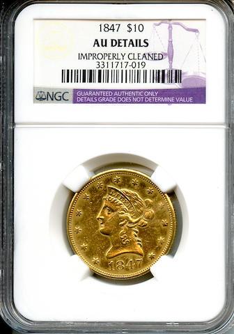 1847 $10 AU Details NGC