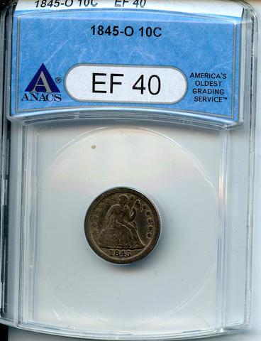 1845-O 10C EF40 ANACS