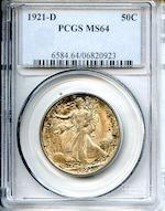 1921-D 50C MS64 PCGS