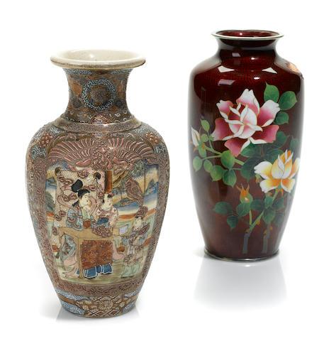 A Japanese Satsuma style vase