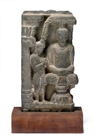 A Gandharan gray schist relief fragment Afghanistan/North Pakistan, 2nd/3rd century CE