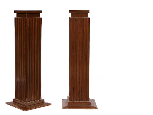A pair of Art Deco style pedestals