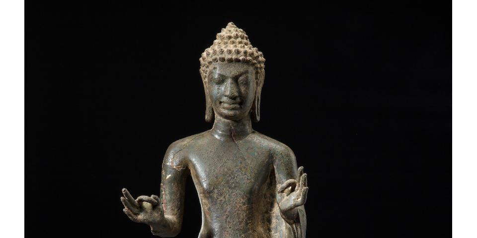 Copper alloy Mon Dvaravab style Buddha  Thailand, 7th/8th century