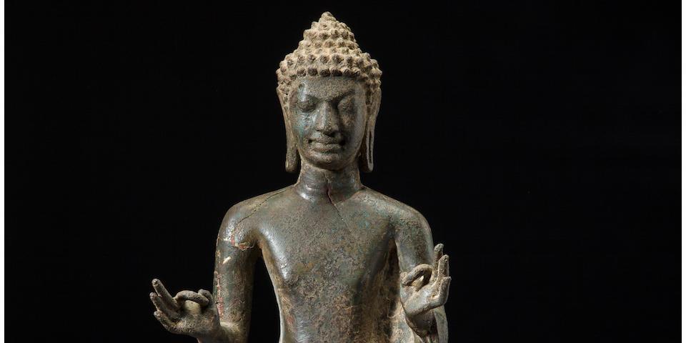 The Eilenberg Buddha<BR />Copper alloy Thailand, Mon Dvaravati period, circa 8th century