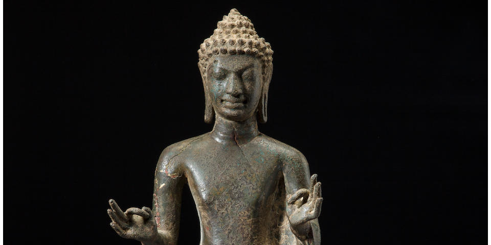 The Eilenberg Buddha<BR />Copper alloy Thailand, Mon Dvaravati period, circa 8th century