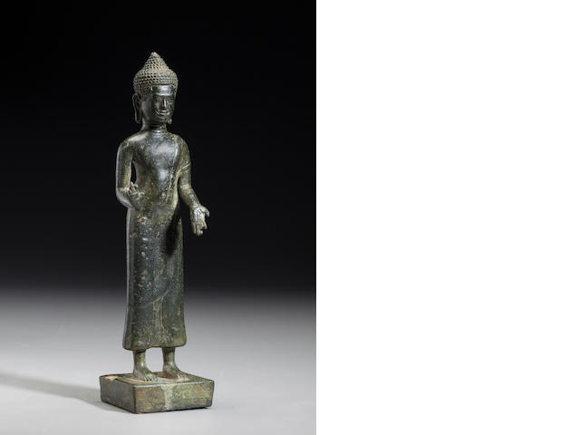 Copper alloy Baphuon style Buddha Cambodia, 11th century
