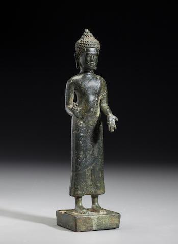 Copper alloy Baphuon style Buddha Cambodia, 11th century