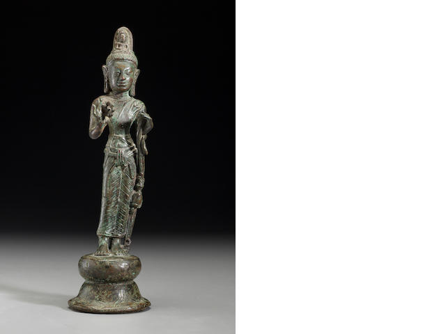 Copper alloy Srivijaya Buddha (Thailand, Malaya, Indonesia?), Circa 9th century