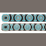Two Zuni concha belts