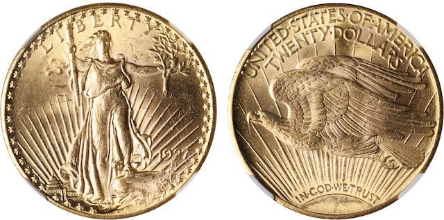 1927 $20 MS63 NGC