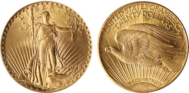 1928 $20 MS63 PCGS