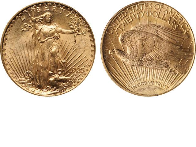 1925 $20 MS63 NGC