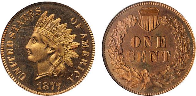 1877 1C PR66RD PCGS