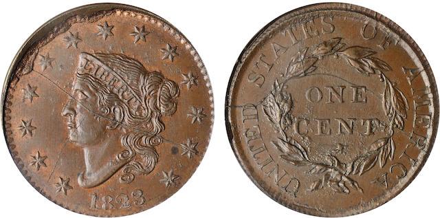 1823 1C MS65BN PCGS