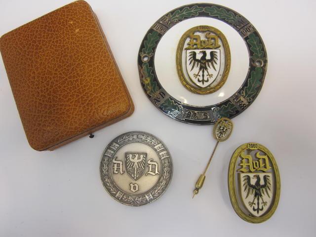 A selection of German Automobile club ephemera, 1960,
