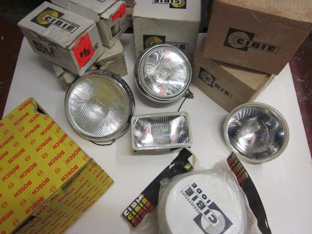 A lot of CIBIE, Oscar and Super Oscar driving lights, some NOS condition,