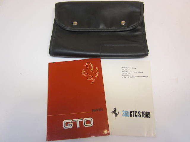 A Ferrari 288 GTO owners manual with original 288 GTO tool pouch,
