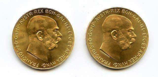 Austria, Gold 100 Coronas 1915 (Restrikes) (2)