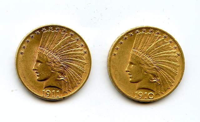 1910, 1911 $10