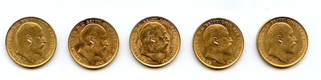 Australia, Edward VII, Sovereigns, 1905-M, 1908-M (3), 1909-M