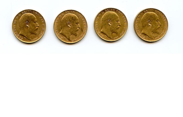 Australia, Edward VII, Sovereigns, 1905-P, 1906-P (2), 1910-P