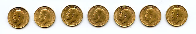 Great Britain, George V, Sovereigns, 1912 (7)