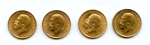 Great Britain, George V, Sovereigns, 1912 (4)