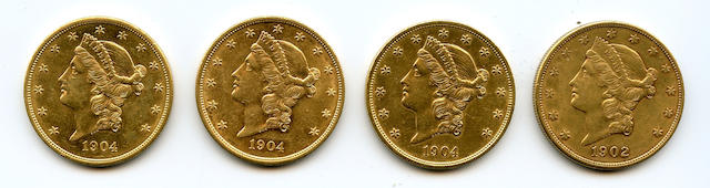 1902-S, 1904 (3) $20