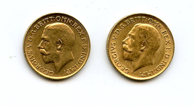 Great Britain, George V, Sovereigns, 1915 (2)