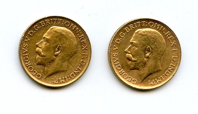 Australia, George V, Sovereigns, 1911-P (2)