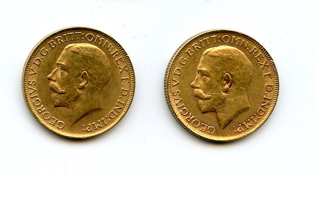 Australia, George V, Sovereigns, 1914-P (2)