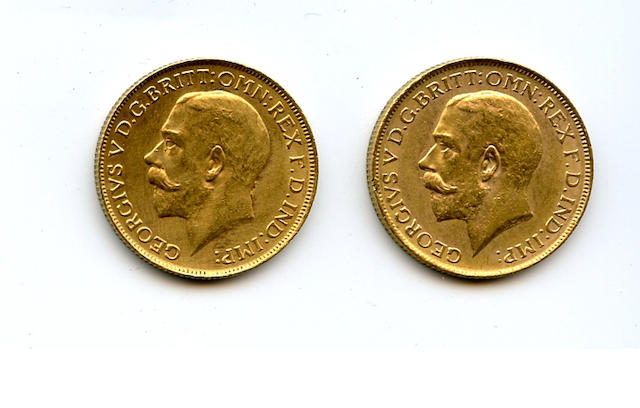 Australia, George V, Sovereigns, 1919-P (2)