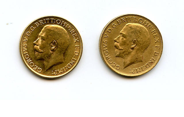 Australia, George V, Sovereigns, 1923-P, 1925-P