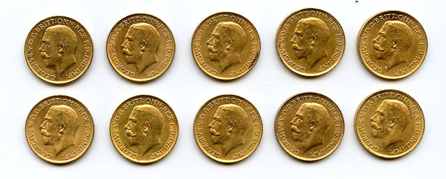 Great Britain, Sovereigns, 1912 (10)