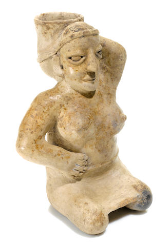 Jalisco Seated Female Figure,<BR />Protoclassic, ca. 100 B.C.-A.D. 250
