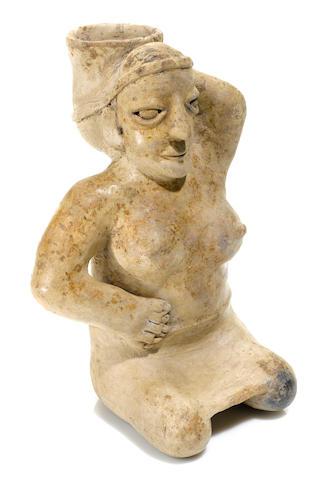 Jalisco Seated Female Figure,<BR />Protoclassic, ca. 100 B.C.-A.D. 250