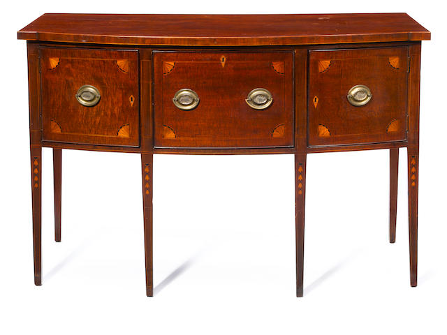 A Federal mahogany inlaid sideboard <BR />Mid Atlantic States