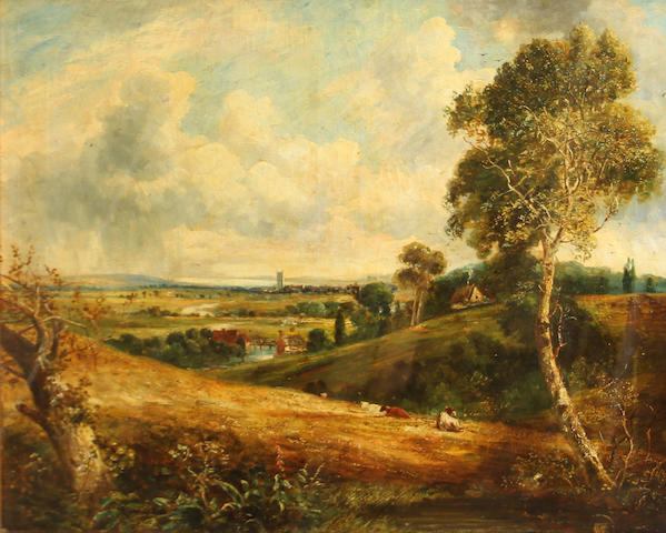 Manner of John Constable, RA The vale of Dedham 32 x 38in