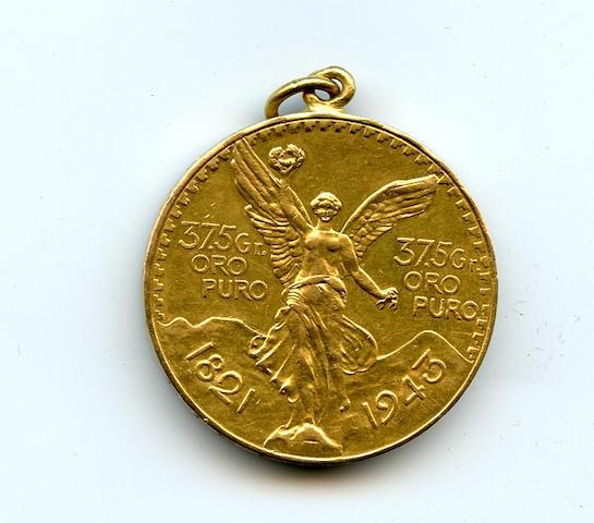 Mexico, Gold 50 Pesos, 1943